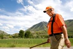 Rick Hammersley walks along Riverbottom Road in Spanish Fork as he crosses Utah for Rick Walks America Tuesday, May 27, 2008. Photo Courtesy of MARK JOHNSTON/Daily Herald.