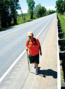 Rick walking through Craig. Photo Courtesy of DAVID PRESSGROVE.