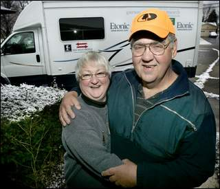 Rick and Valda Hammersley, pre-walk. Photo Courtesy of the Indianapolis Star.
