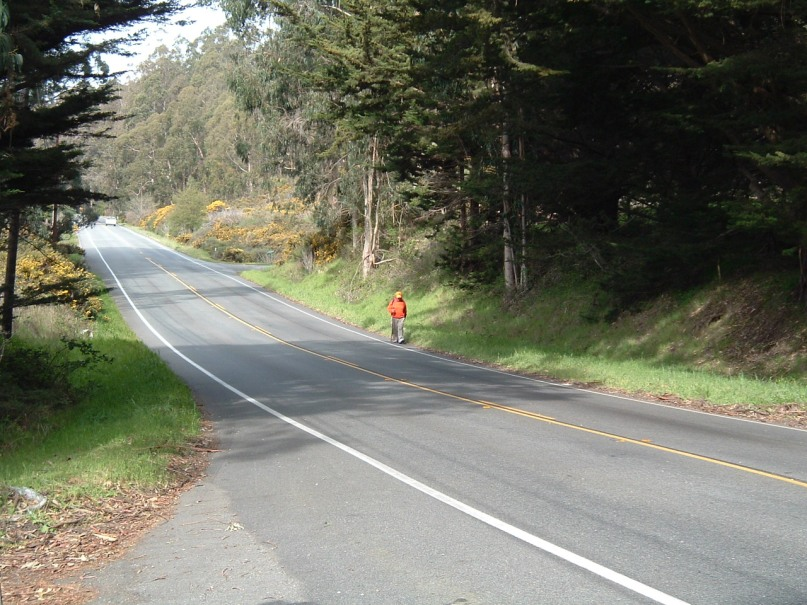 Rick Hammersley Walking Hwy 12