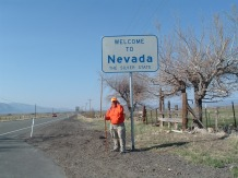 Rick Hammersley crosses into the 2nd State on his cross-country walk.
