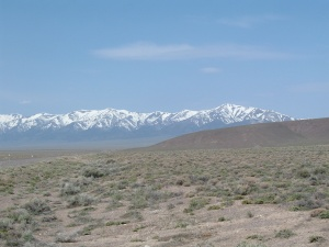 Nevada Mountains Looking Back