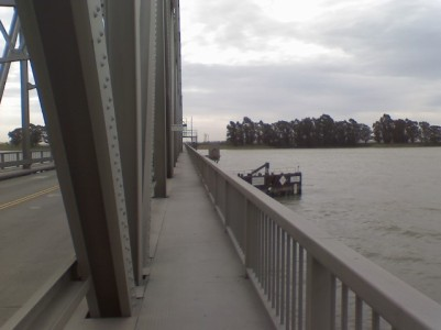 The first bridge Rick Hammersley crossed on his walk.