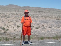Rick Hammersley in Nevada Desert
