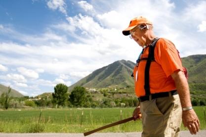 Image courtesy of MARK JOHNSTON/Daily Herald Rick Hammersley walks along Riverbottom Road in Spanish Fork as he crosses Utah for Rick Walks America on Tuesday, May 27, 2008.