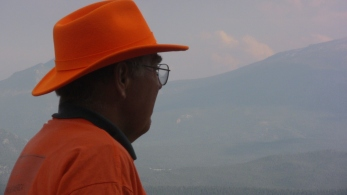 Gazing out at Rockies