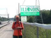 Crossing into Illinois - Rick Walks America