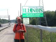 Crossing into Illinois - Rick Walks America