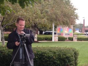 Chris Hammersley filming Rick Hammersley being interviewed