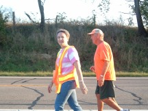 Rick Hammersley Walking with Kay
