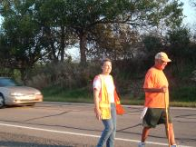 Rick Hammersley Walking with Kay Burke
