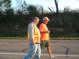 Rick Hammersley Walking with Mike Altoff