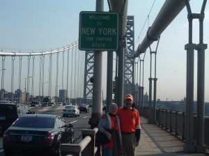 Rick & Val Hammersley Arrive in New York via GW Bridge