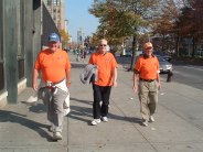 Hammersley Brothers Walking Broadway in NYC