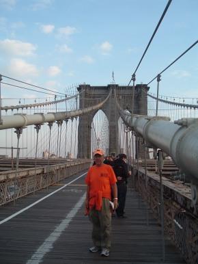 Rick Hammersley on the Brooklyn Bridge